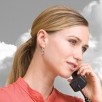woman using VoIP calling